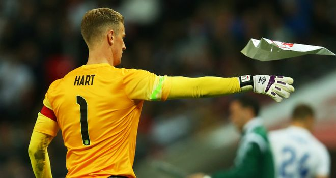 Joe Hart: Has vowed to stay positive in Brazil