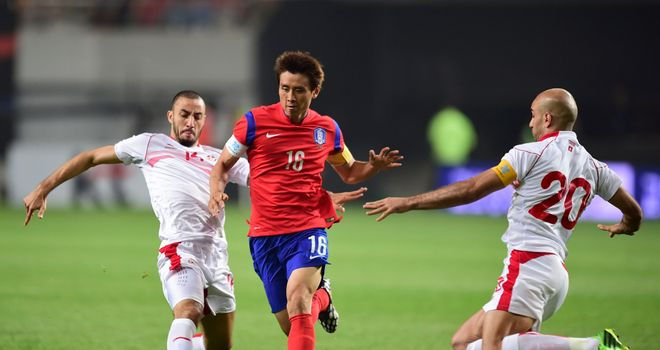 Koo Ja-Cheol: In action against Tunisia
