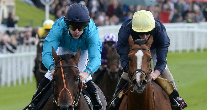 Brown Panther (left) wins The Boodles Diamond Ormonde Stakes.