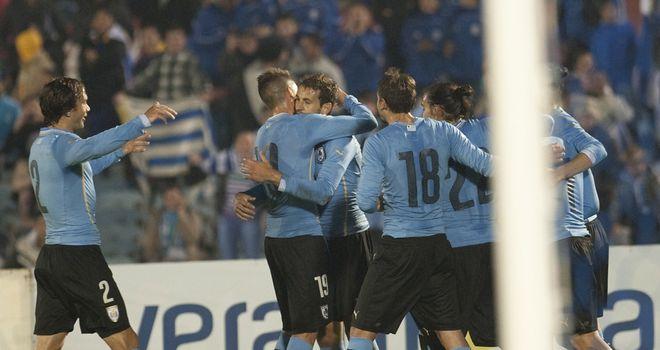 Christian Stuani: Celebrates his winning goal for Uruguay