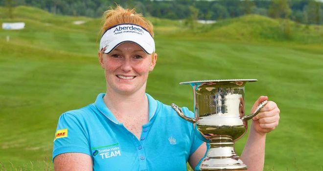 Kylie Walker: Scot proudly displays the Deloitte Ladies Open trophy