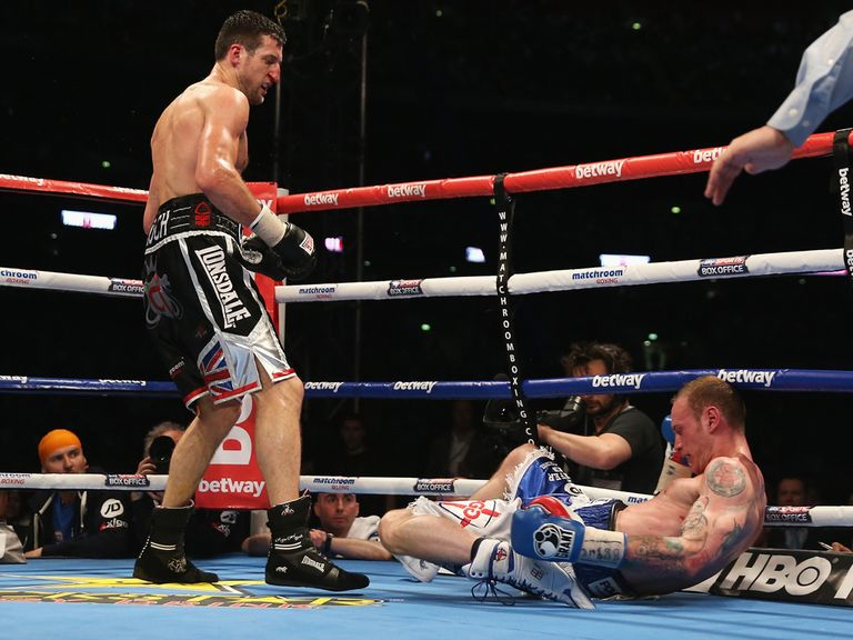 Froch puts Groves on the canvas in the eighth round