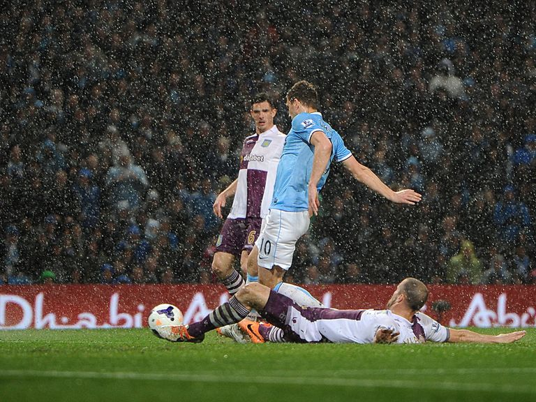 Edin Dzeko opened the scoring with a cool finish