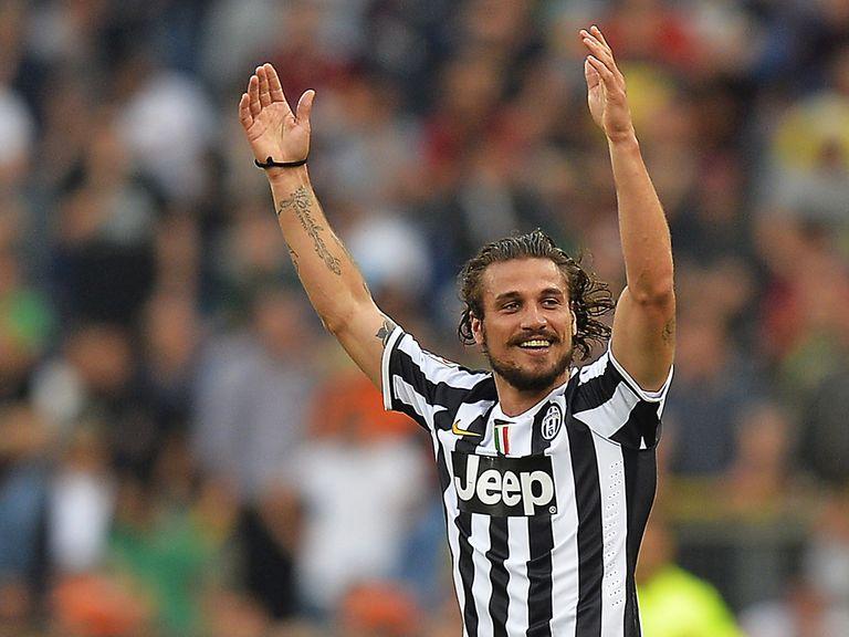 Dani Osvaldo celebrates Juventus' winner