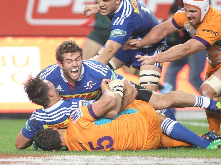 The Stormers celebrate a try