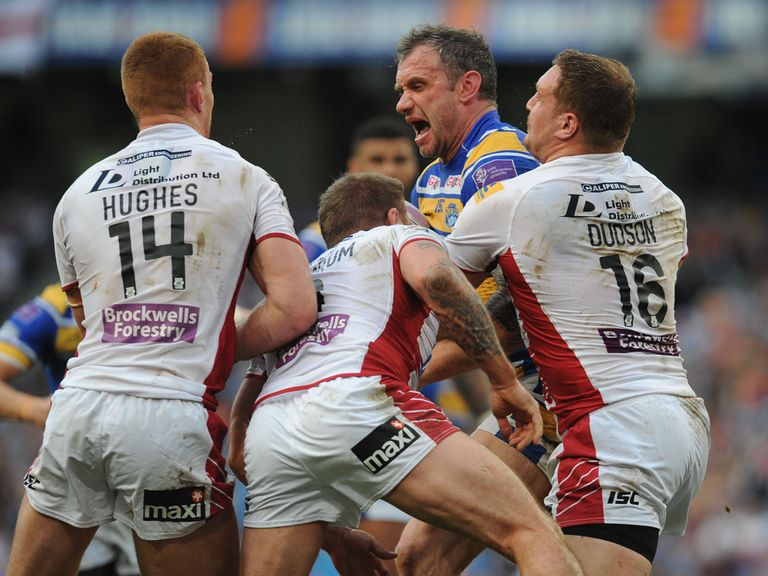 Leeds: Jamie Peacock is fined for punching Leigh forward Matt Sarsfield.