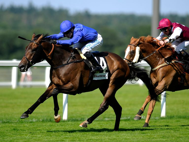 Silvestre De Sousa seen riding a winner for Godolphin