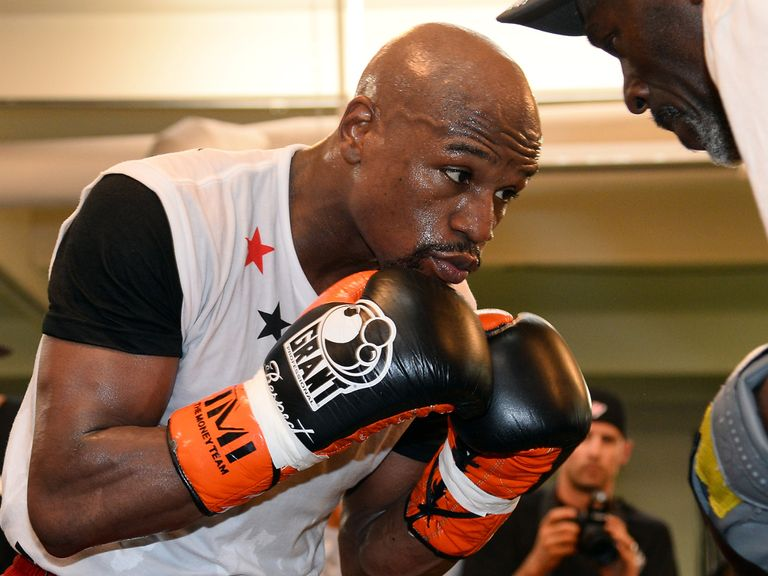 Floyd Mayweather Jr: Preparing to face Marcos Maidana