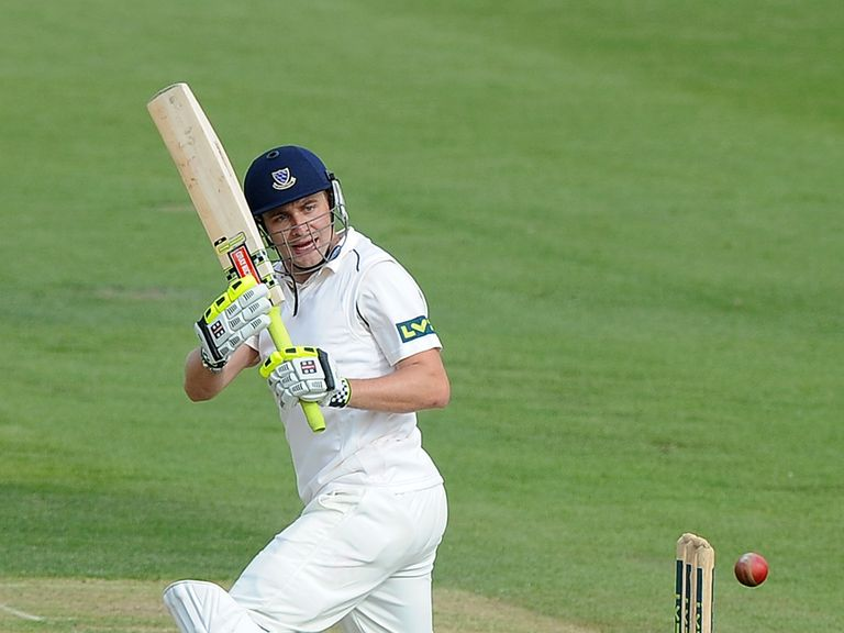 Luke Wright batting for Sussex in the County Championship