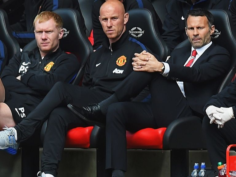 Ryan Giggs (r): Had four-game spell in charge