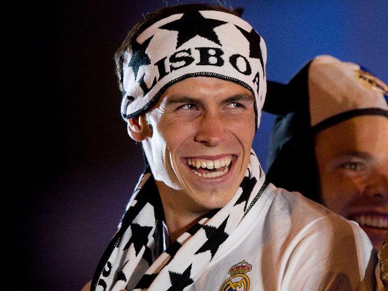 Gareth Bale: Celebrates Real Madrid's Champions League win