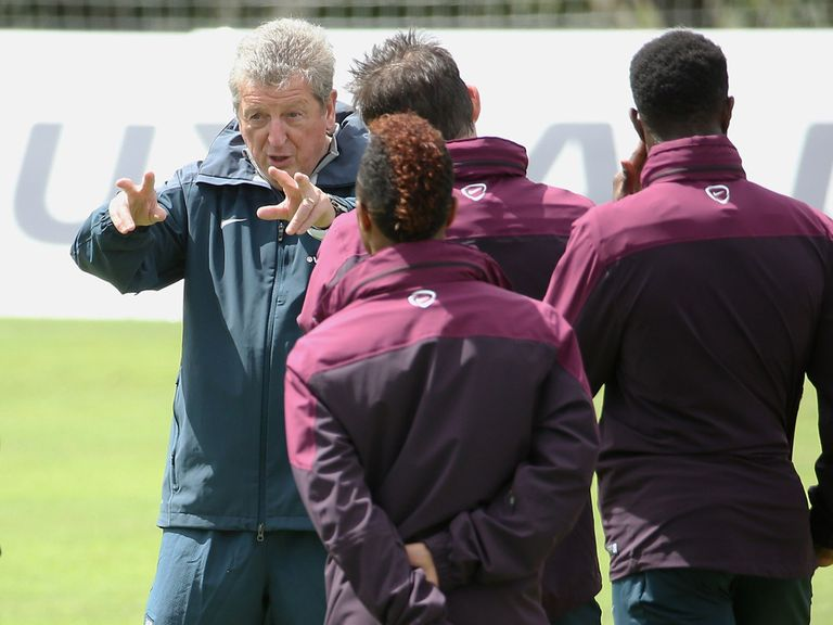 Roy Hodgson has England players sweating in training