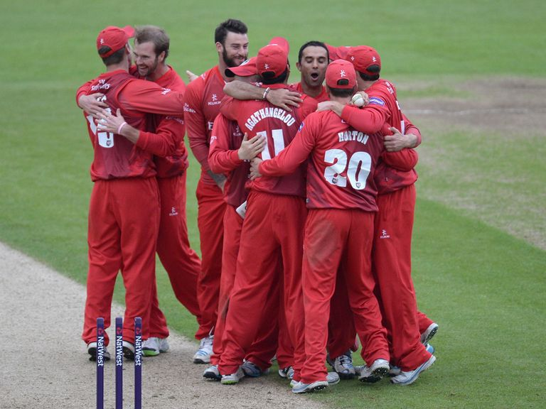 Lancashire celebrate victory on Thursday night