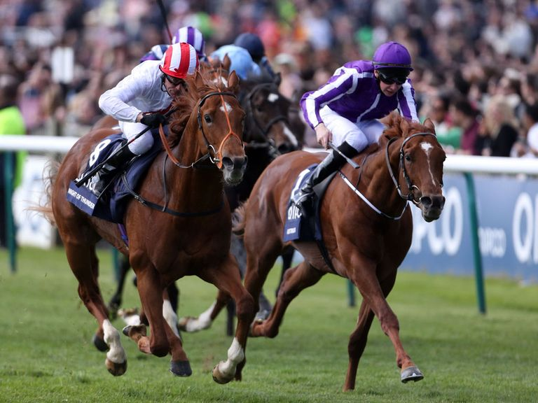 Night of Thunder (left): Beat Australia in the Guineas
