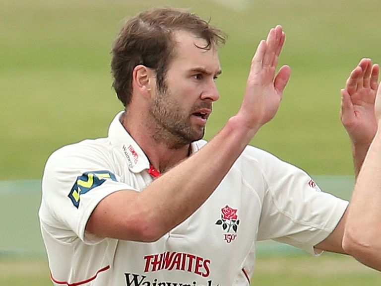 Tom Smith of Lancashire put his side on top