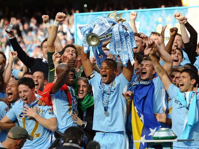 Manchester City will be lifting the Premier League trophy