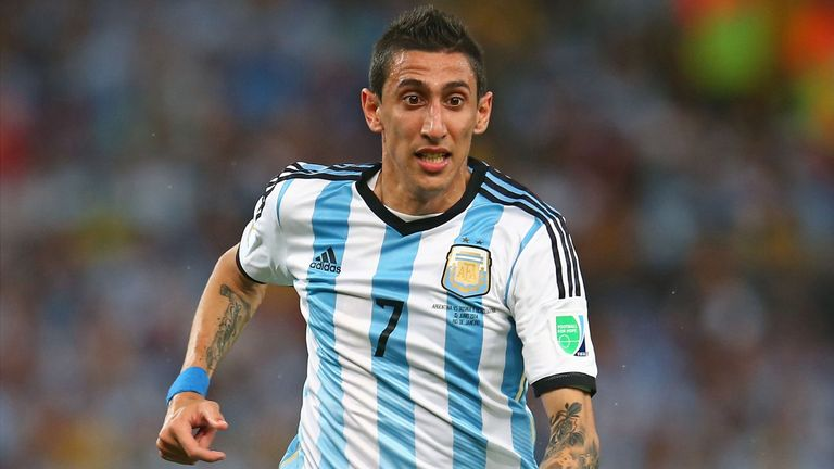 Angel di Maria of Argentina in action during the 2014 FIFA World Cup.