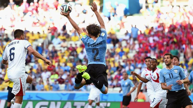 Diego Lugano has picked up a knee injury and will not face Roy Hodgson's side