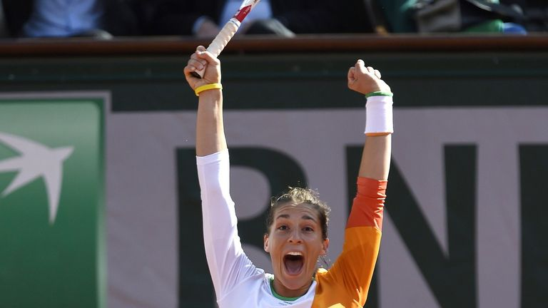 Andrea Petkovic: The French Open semi-finalist beat American Shelby Rogers
