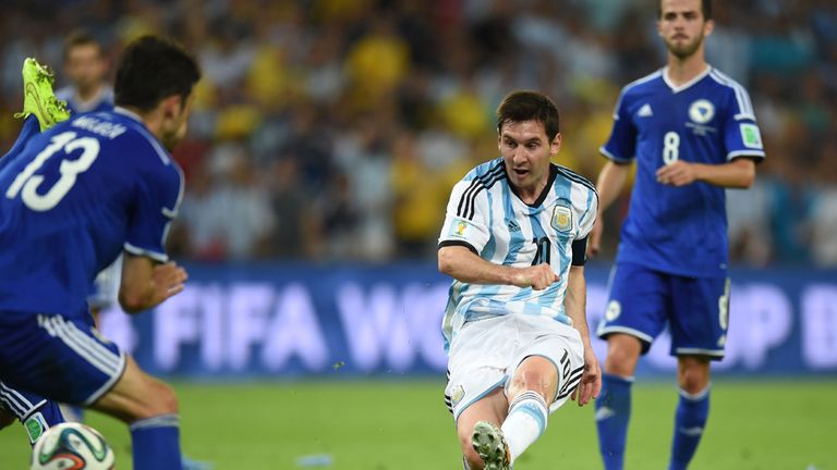 Lionel Messi: On target in Argentina's win over Bosnia