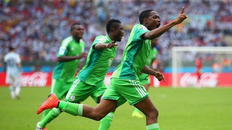 Ahmed Musa celebrates