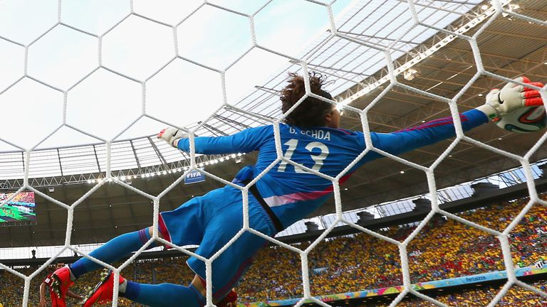 Ochoa produced some stunning saves to earn Mexico a draw