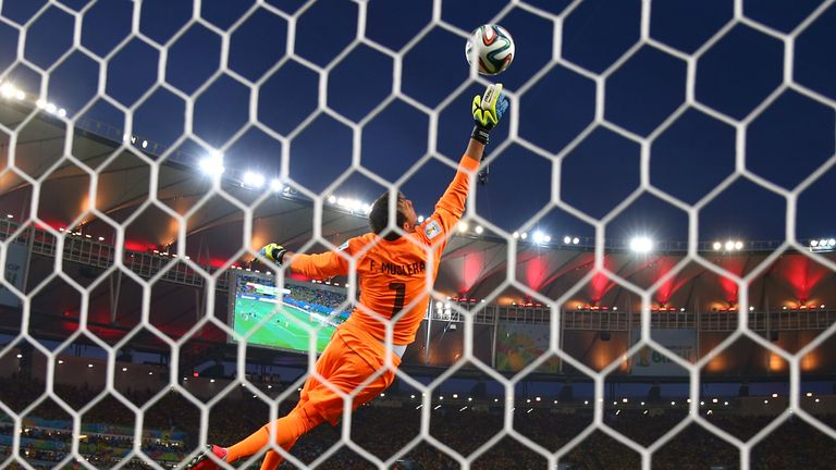 Muslera: Can't keep out Rodriguez's shot