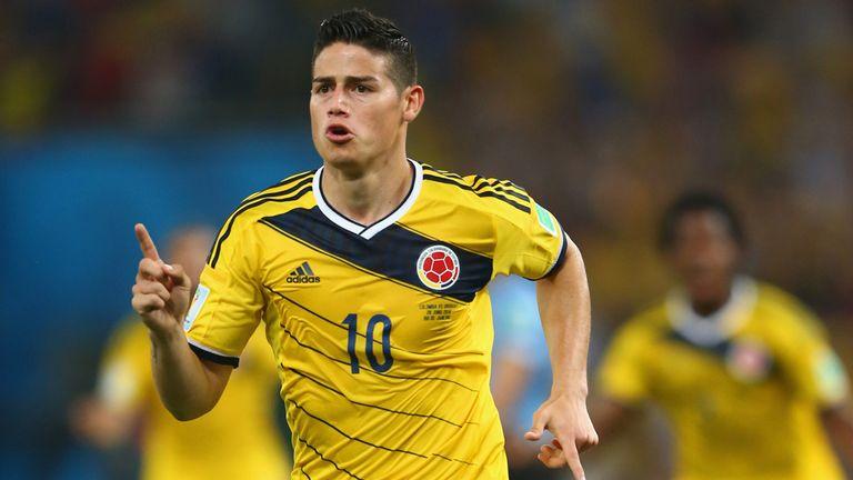 Rodriguez: Celebrates opening goal