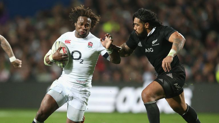Marland Yarde in action for England against the All Blacks