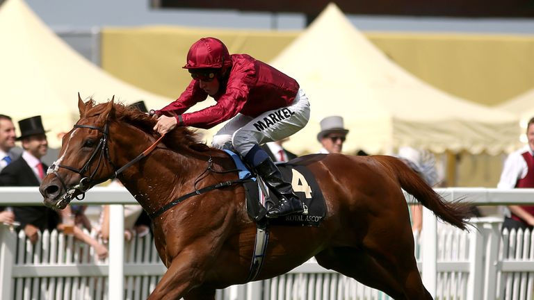 Eagle Top goes clear to win at Royal Ascot.