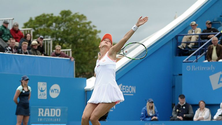 Agnieszka Radwanska: Bowed out in the first round in Eastbourne