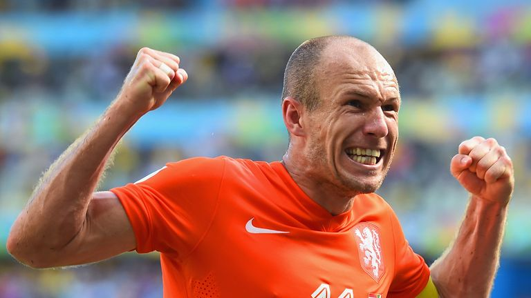 Arjen Robben: Insists he was fouled for Holland's penalty