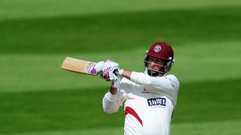 Marcus Trescothick: Unbeaten century on day two