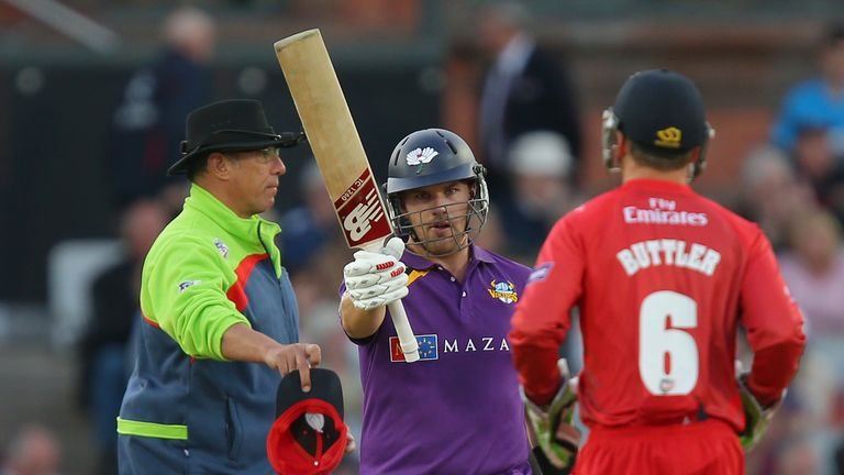 Aaron Finch made 88 from 55 balls for Yorkshire Vikings