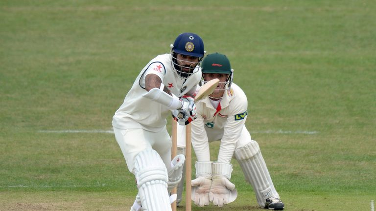 Shikhar Dhawan: India opener retired hurt after making 60
