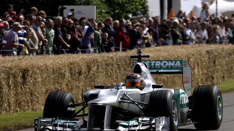 A Mercedes F1 car at the 2012 Goodwood Festival of Speed