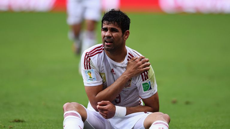 Costa: Part of the Spain side that slumped to a 5-1 defeat to the Netherlands, but still on Jose Mourinho's radar