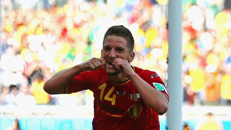 Dries Mertens celebrates his winner