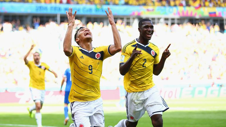 Teofilo Gutierrez: Scores the second goal as Colombia beat Greece in Belo Horizonte.
