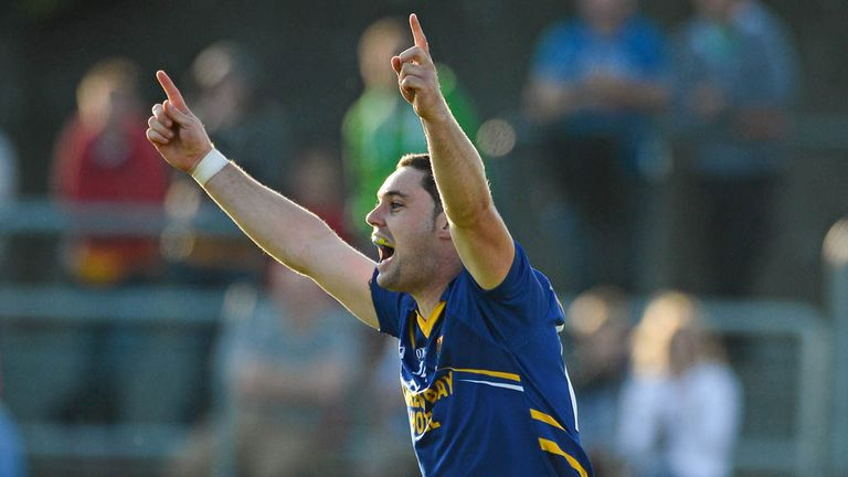 Seanie Furlong celebrates after scoring his second goal against Offaly