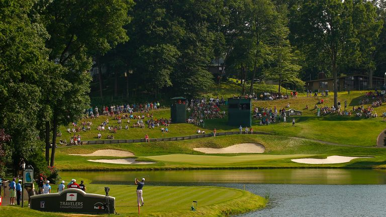 A general view of the 16th hole at TPC River Highlands