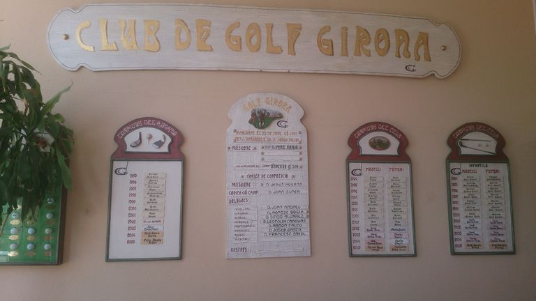 Inside the clubhouse at Girona