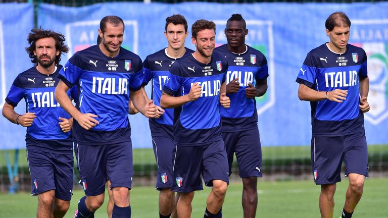 Italy training in Mangaratiba
