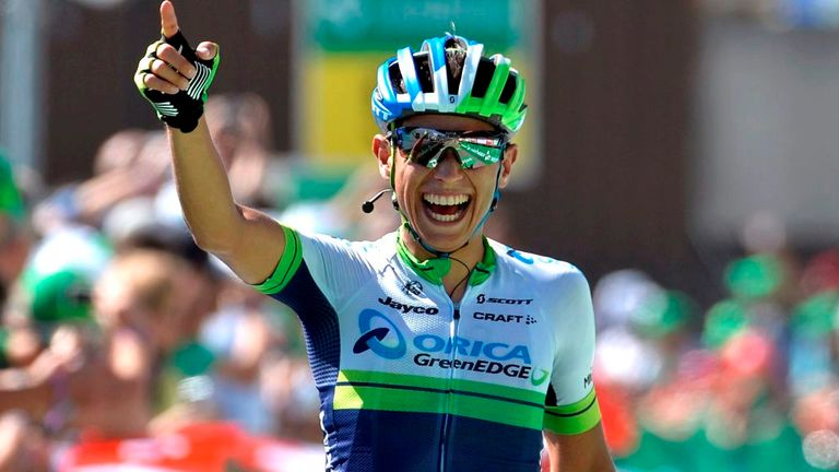 Johan Esteban Chaves climbed to his second win of the season