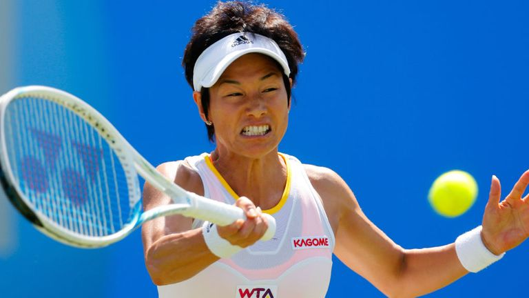 Kimiko Date-Krumm: The veteran Japanese player ousts Daniela Hantuchova in Birmingham