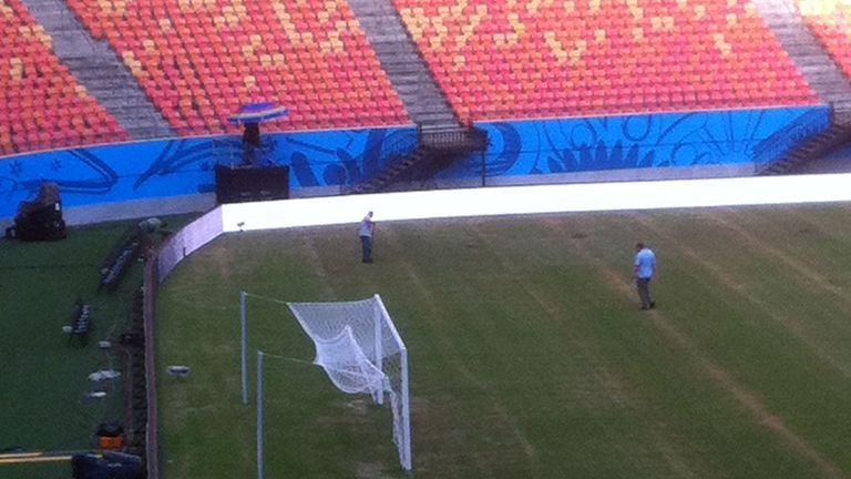 Arena da Amazonia: Italy prepared for pitch