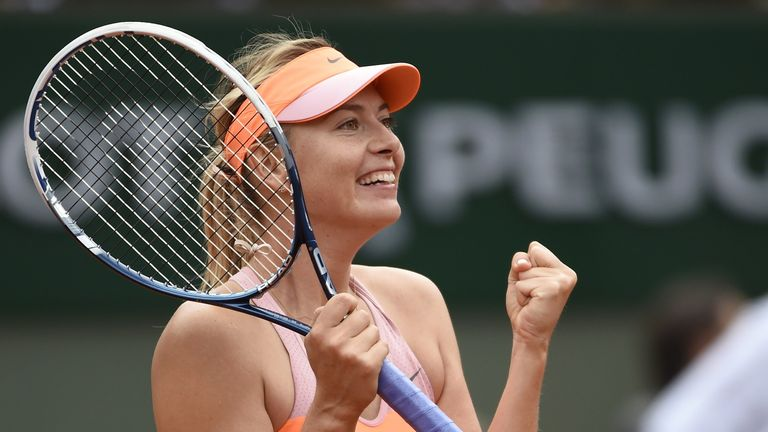 Maria Sharapova: Came from behind to beat Garbine Muguruza in the French Open quarter-finals