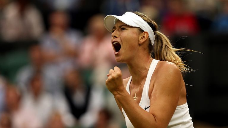 Maria Sharapova: Hoping her match with Kerber will get underway on Tuesday
