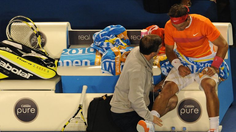 Injury woes: Nadal forced out