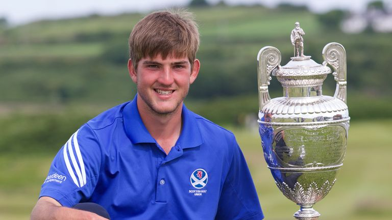 Bradley Neil: Can cope with the pressure of winning the Amateur Championship